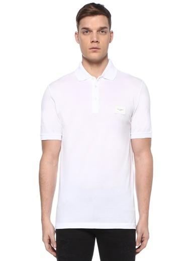 Dolce&Gabbana Dolce&Gabbana  Polo Yaka Logo Patchli T-shirt 101479091 Beyaz